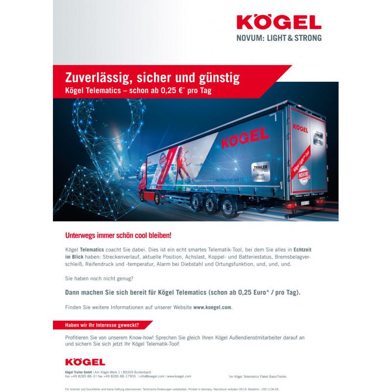 Kögel campaign flyer Telematics (DE / EN)
